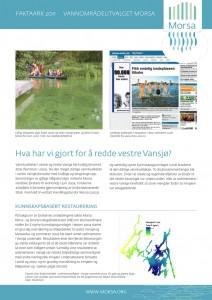 Hva har vi gjort for å redde vestre Vansjø? Forside faktaark